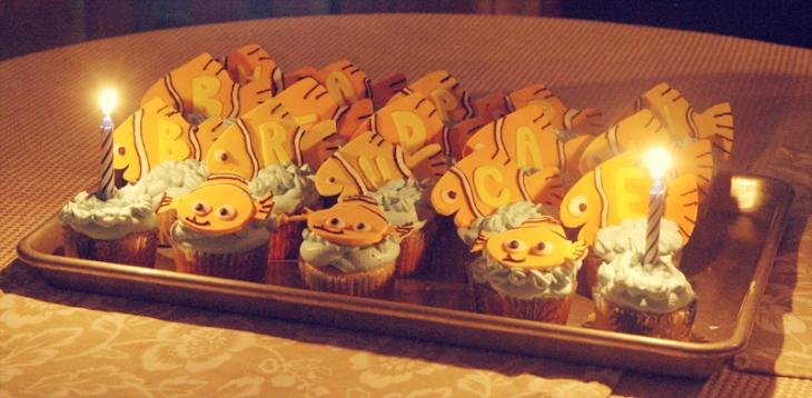 Nemo Birthday Cupcakes