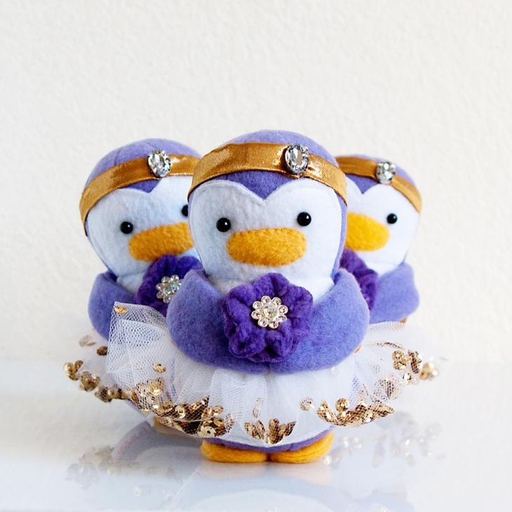 Wedding Flower Girl Penguins