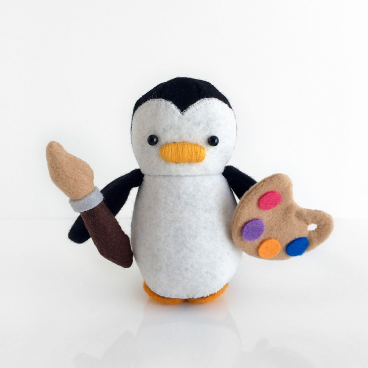 Artist Painter Mini Penguin