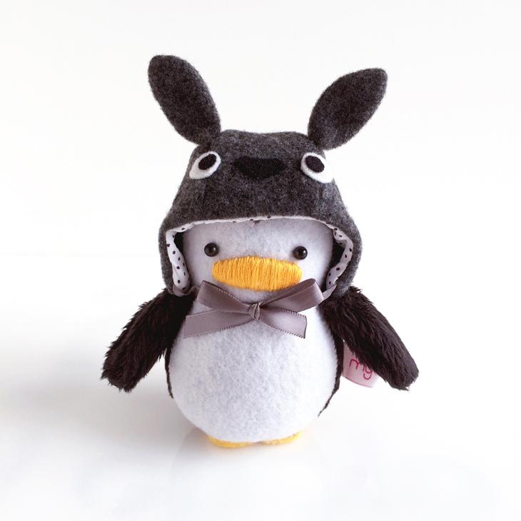 Mini Penguin with Totoro Hat