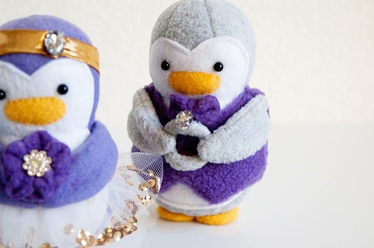 Wedding Flower Girl & Ring Bearer Penguins