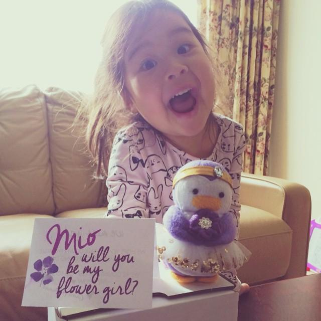My Dear Darling Flower Girl Penguin
