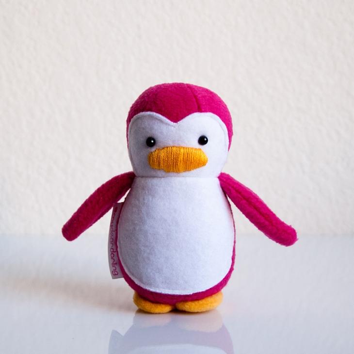 Mini Penguin Hot Pink