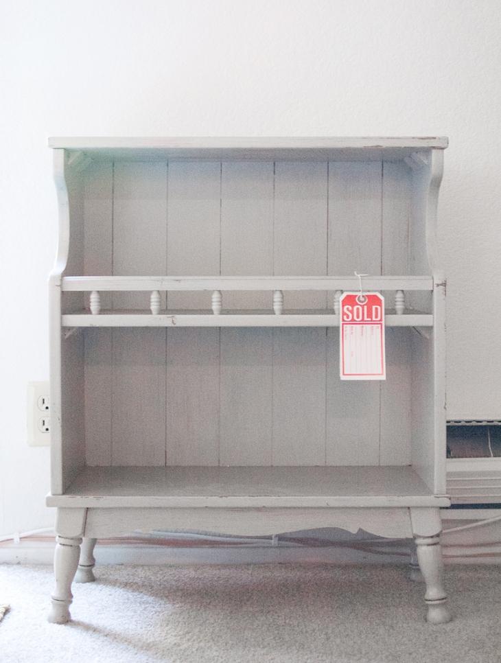 Grey Bookshelf