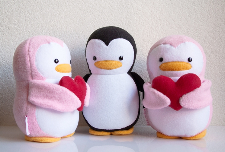 Be Mine Valentine Penguins