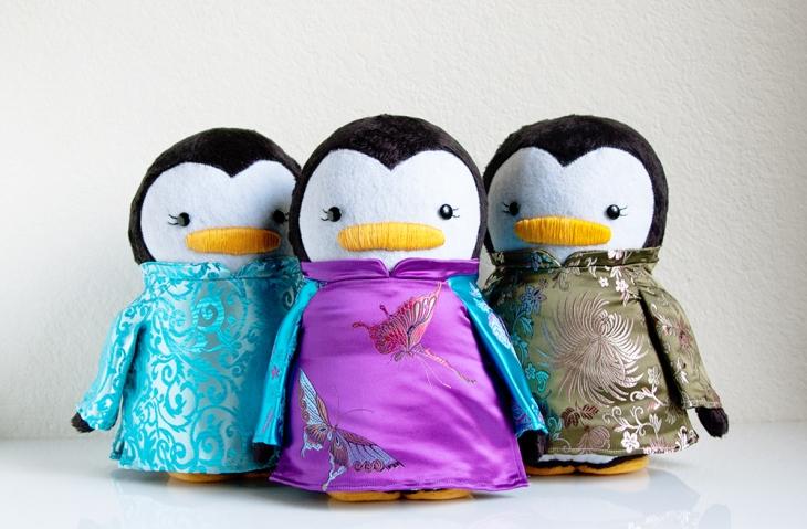 Vietnamese Ao Dai Penguins