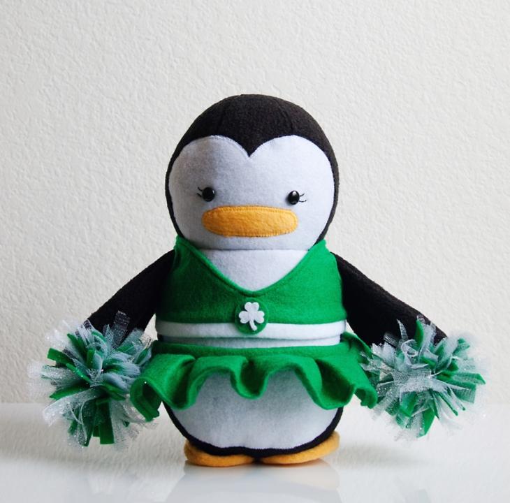 Celtics Cheerleader Penguin