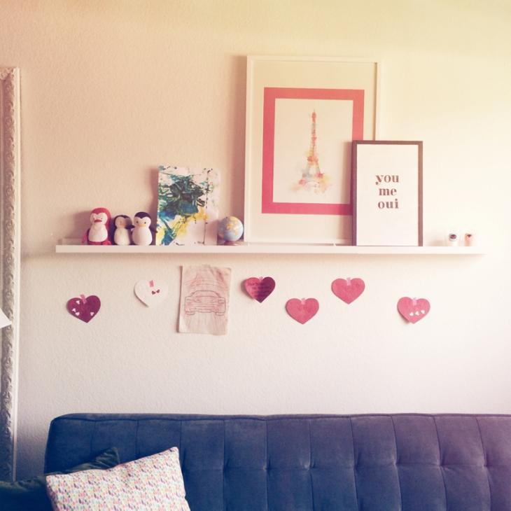 Living Room Valentine Hearts