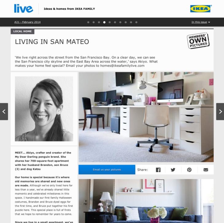 Akiyo in Ikea Family Live Magazine