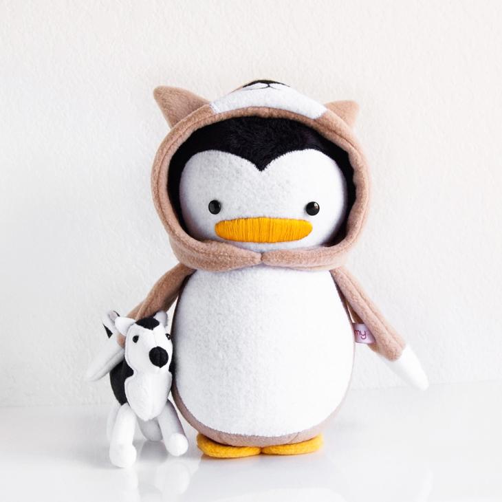 Corgi Penguin with Husky